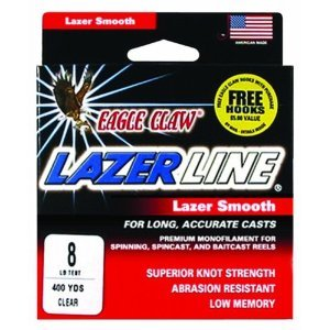 Eagle Claw Lazor Line( 8 lb Clear 400 Yds )